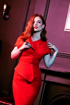 Jess Glynne in Fault Magazine: Jacket & Skirt: Thierry Mugler At BOB Vintage Jess Glynne, Ginger Models, I Love Redheads, Fashion Vocabulary, The Girl Who, Vanity Fair, Girl Crushes, Gorgeous Women, Photography Poses
