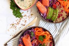 Le genre de plat que jadore je me suis inspire Grenade Fruit, Poke Bowl, Salad Recipes, Healthy Recipes, Buddha Bowl, Salad Bowls, Ratatouille, Picnic, Skinny Kitchen