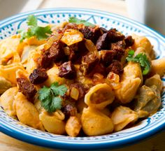 Spicy Chipotle Shells and Cheeze, Cilantro and Field Roast #vegan