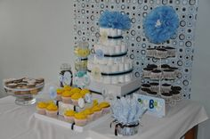 """Photo 1 of 13: Baby boy blue / Baby Shower/Sip & See """"Rubys Baby Shower"""" 