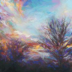 """EMBRACE - 6"""" x 6"""" pastel sunset by Susan Roden©, http://susanroden.blogspot.com"""