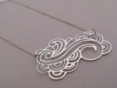 Abstract Wave Tattoo Necklace. $35.00, via Etsy.