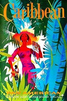 'Pan-Am - Caribbean' - Wonderful A4 Glossy Art Print Take... https://www.amazon.co.uk/dp/B01HZC7VAW/ref=cm_sw_r_pi_dp_fW7ExbG16N4EM