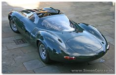 Jaguar XJ13 rear - Jaguar XJ13. Malcolm Sayer developed the shape of the XJ13, and he had already developed the Jaguar C-type, D-type and E-type. The shape was designed for maximum speed on the Mulsanne Straight at Le Mans.