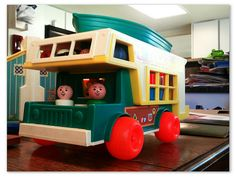 Retro Toy Love: Fisher-Price Play Family Camper [1972] our Coop preschool in Florenceville had this