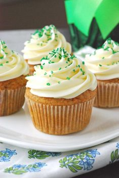 Carrot Cake Cupcakes with cream cheese frosting! Think I may be making these for Easter!
