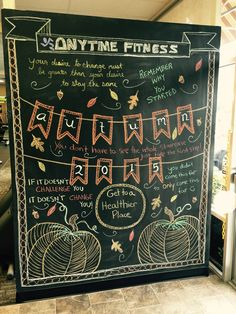 Chalk Wall At Anytime Fitness Signs And Fonts