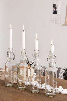 Christmas advent candle idea