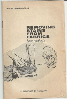removing stains from fabric