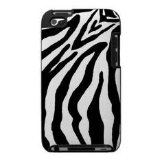 Black and White Zebra Print Case For The Ipod Touch