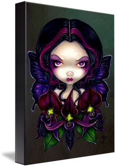 Black Orchid Fairy by Jasmine Becket-Griffith