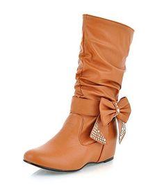 acef817687bab6 SGESVIER women Snow Boots half knee Rhinestone Bowtie Sexy Winter new boots  Wedge Heel Shoes short Boots big size