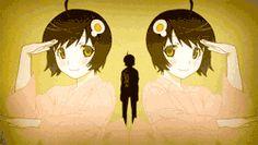 dance Araragi Koyomi anime gif intro Apparition monogatari Araragi Tsukihi fire sisters koyomimonogatari