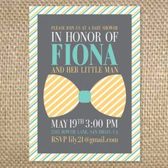 Exceptional This Bow Tie Baby Shower Invitation Is Perfect For Welcoming That Little  Gentleman Into The World.   Showers, Bachelorette U0026 Other Invitations    Pinterest ...