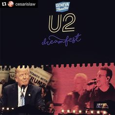#Repost @cesarislaw ・・・ #Bono debating Trump at #Dreamfest. What a time to be alive! #u2