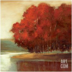Touch of Red Art Print by Asia Jensen at Art.com