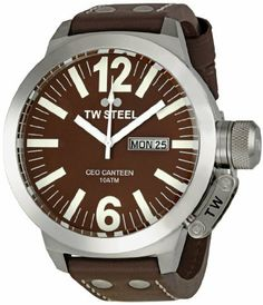 TW Steel Men's CE1010 CEO Brown Dial Watch TW Steel. $281.85. Durable mineral crystal protects watch from scratches. Stainless steel case. Water-resistant to 330 feet (100 M). Case diameter: 50 mm. Quartz movement. Save 43%!