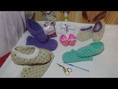 Pantuflas todas las tallas en crochet - YouTube