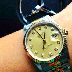 Rolex Datejust 16233, two tone, diamond hour marker, jubilee bracelet. Mine!