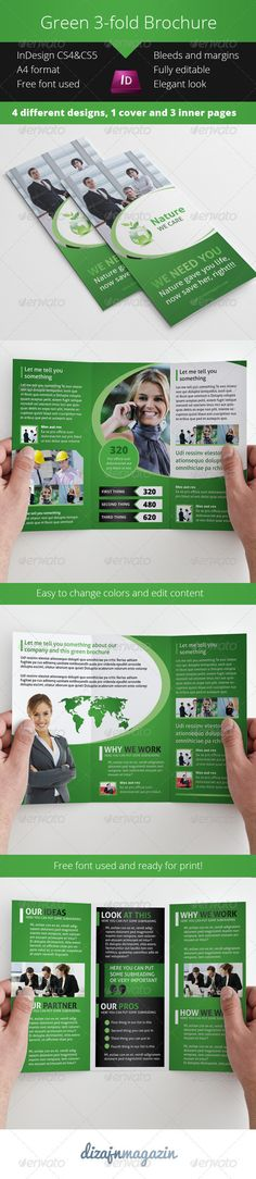 Black \ White Theme Trifold Brochure Template Brochure template - advertising brochure template