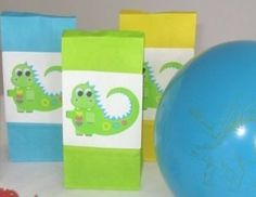 Cute Dinosaur Party Bags