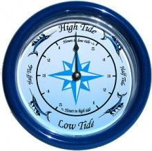 Track the high and low tides in your area along the Atlantic Ocean. The case comes in your choice of blue or white. The sailfish dial is a Moore Clocks original design. The tide movement comes with a 3 year manufacturer warranty. We also offer a 30-day money-back guarantee if you are not completely satisfied with the clock. Price: $29.00