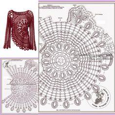 Crochet dress pattern sexy beach dress Plus size Long sleeve tunic, size L Diy Crochet Cardigan, Crochet Tunic Pattern, Crochet Chart, Crochet Patterns, Crochet Skirts, Crochet Clothes, Diy Crafts Crochet, Crochet Symbols, Creations