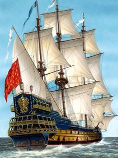 A French ship of the 17th century - La Sirene