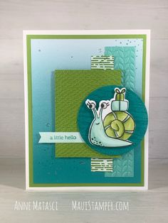 Snail Cards, Wink Of Stella, Animal Cards, Card Sketches, Card Tags, Paper Cards, Stamping Up, Kids Cards, Scrapbook Cards