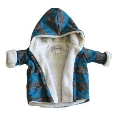 Plaid Sherpa Fur Jacket