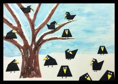 Winter Crafts For Kids, Winter Kids, Diy For Kids, 2nd Grade Art, Winter Project, Bird Crafts, Kindergarten Art, Art Lessons Elementary, Autumn Art