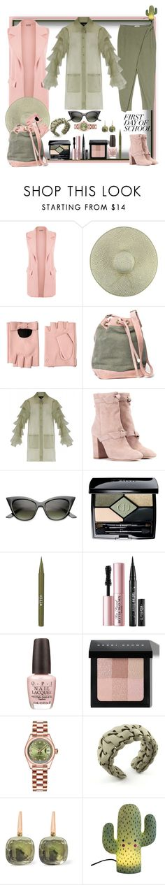 """I can always be a palm tree in a school play!"" by ritva-harjula ❤ liked on Polyvore featuring WearAll, Karl Lagerfeld, Carine Letessier, Samuji, Alexandre Birman, ZeroUV, Christian Dior, Stila, Too Faced Cosmetics and OPI"