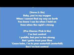 Stargate feat Sia & Pink - Waterfall Lyrics Video