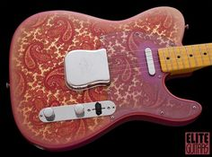 1968 Fender Telecaster in the optional PAISLEY RED finish. The one still has a Nice Pink-ish hue and is in Well Preserved condition. Many Paisley Fender model instruments color-fade and crack, howe. Vintage Telecaster, Telecaster Guitar, Fender Guitars, Vintage Guitars, Guitar Shop, Cool Guitar, Learn Acoustic Guitar, Acoustic Guitars, Guitar Logo