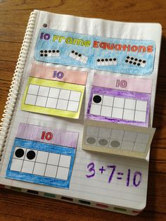 A great resource for kids to use interactive notebooks! This product uses and 20 frames to help students subitize numbers more efficiently to deepen their thinking about math, as well as their strategies! Interactive Math Journals, Math Notebooks, Second Grade Math, First Grade Math, Math Resources, Math Activities, Math Fractions, Subitizing, Singapore Math