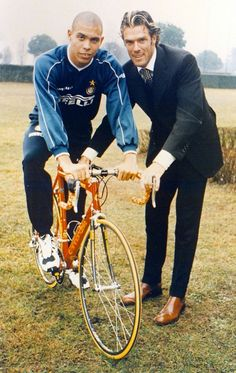 Ronaldo and Mario Cipollini.    After this photo was taken, the earth's rotation was slowed by 1.78 seconds.  - big jonny