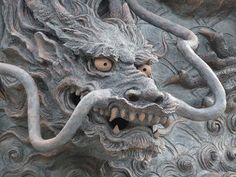 迫力ある龍の顔