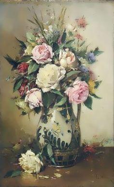 Bucharest, Tatt, Impressionism, Still Life, Floral Wreath, Artist, Alba, Painting, Inspiration