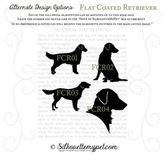 Flat-Coated Retriever Silhouette on Vintage door silhouetteMYpet