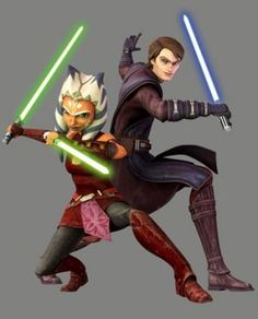 Anakin and Ahsoka. Don't mess with these two!