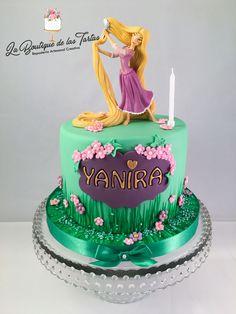 Tarta fondant personalizada rapunzel Rapunzel Torte, Bolo Rapunzel, Rapunzel Birthday Cake, Tangled Birthday Party, Princess Rapunzel, Cupcake Cakes, Cupcakes, Engagement Cakes, Disney Cakes