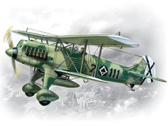 ICM Models He 51B1 Spanish AF FighterBiplane Building Kit * Check this awesome product by going to the link at the image.