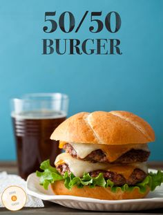 50-50-burger (1/2 lb of ground beef & 1/2 lb of ground bacon) http://www.slaters5050.com/