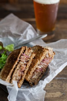 Brown Rice, Oat, and Nut Vegetarian Patty Melt