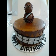 Custom Chewbacca Birthday cake