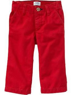 Pop-Color Twill Pants for Baby   Old Navy