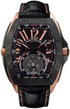 Franck Muller Conquistador Grand Prix Tourbillon... i really want to buy this franck muller tourbillon watch for my future husband.. ughh.. piece of artwork... masterpiece.. AHH