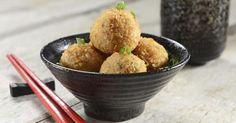 Recette de Croquettes légères de pommes de terre et chèvre sans friture. Facile et rapide à réaliser, goûteuse et diététique.