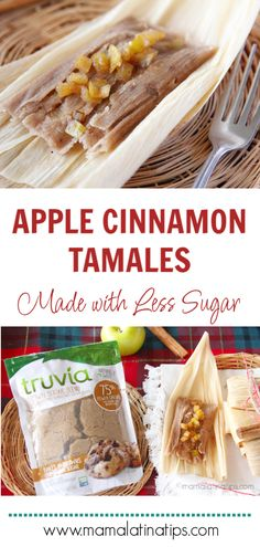 An easy recipe for making delicious apple cinnamon tamales. These sweet tamales are made with less sugar but have all the flavor. I also share a few variations including how to make them vegan. Pozole, Raw Food Recipes, Dessert Recipes, Cooking Recipes, Cooking Tips, Freezer Recipes, Freezer Cooking, Wrap Recipes, Sausage Recipes