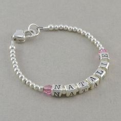 Baby Bracelets sterling silver heart by SixSistersBeadworks Little Girl Jewelry, Baby Jewelry, Girls Jewelry, Beaded Jewelry, Handmade Jewelry, Initial Earrings, Baby Bracelet, Arrow Bracelet, Cheap Silver Rings